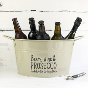 Personalised Party Drinks Bucket