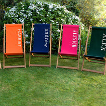 Load image into Gallery viewer, Personalised Adult Plain Deckchair