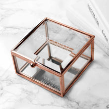 Load image into Gallery viewer, Personalised Rose Gold Glass Trinket Box