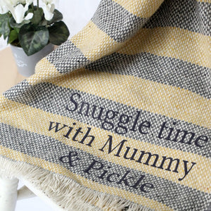 Personalised Striped Blanket