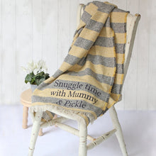Load image into Gallery viewer, Personalised Striped Blanket