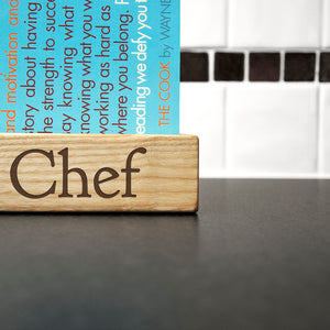 Personalised Wooden Kitchen Recipe Book Or iPad Holder
