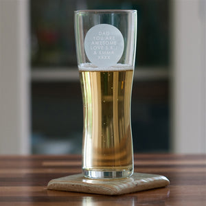 Personalised Any Message Beer Pint Glass