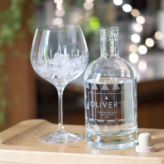 Premium Engraved Botanical Christmas Tree Gin