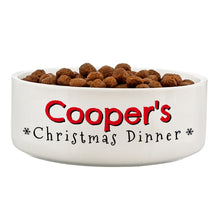 Load image into Gallery viewer, Personalised Christmas Dinner 14cm Medium Pet Bowl