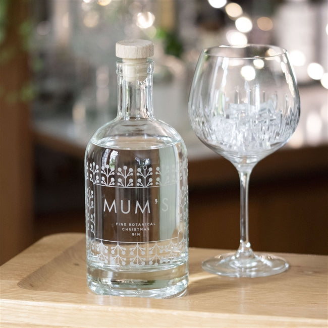Premium Engraved Botanical Festive Holly Gin