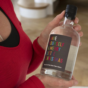 Personalised Colourful Christmas Gin