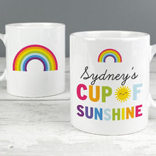 Load image into Gallery viewer, Personalised Rainbow Cup of Sunshine Mug