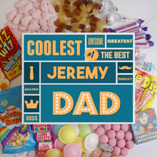 Load image into Gallery viewer, Personalised Best Dad White Deluxe Sweet Box