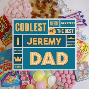 Personalised Best Dad White Deluxe Sweet Box