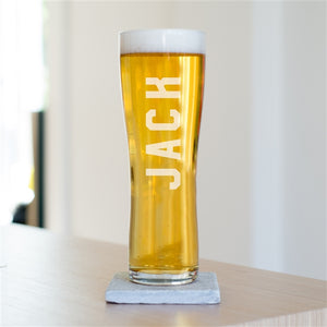 Personalised Name Pint Beer Glass