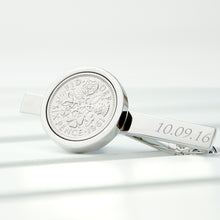 Load image into Gallery viewer, Personalised Lucky Sixpence Tie Pin