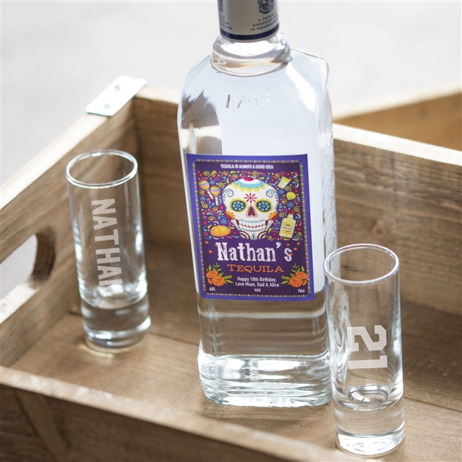Personalised Day Of The Dead Design Tequila