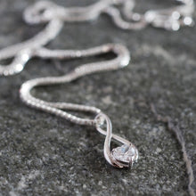 Load image into Gallery viewer, 9ct White Gold Infinity Pendant Necklace