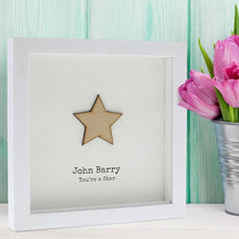 Load image into Gallery viewer, Personalised Framed You're A Star Art Print
