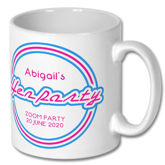 Personalised Virtual Hen Party Mug