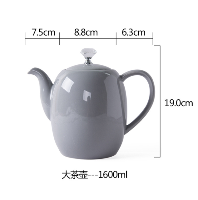 Light Gray Teapot - Survivor Wellness