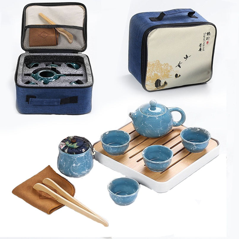 Tea Ceremony Tea Pot With Travel Bag - Survivor Wellness