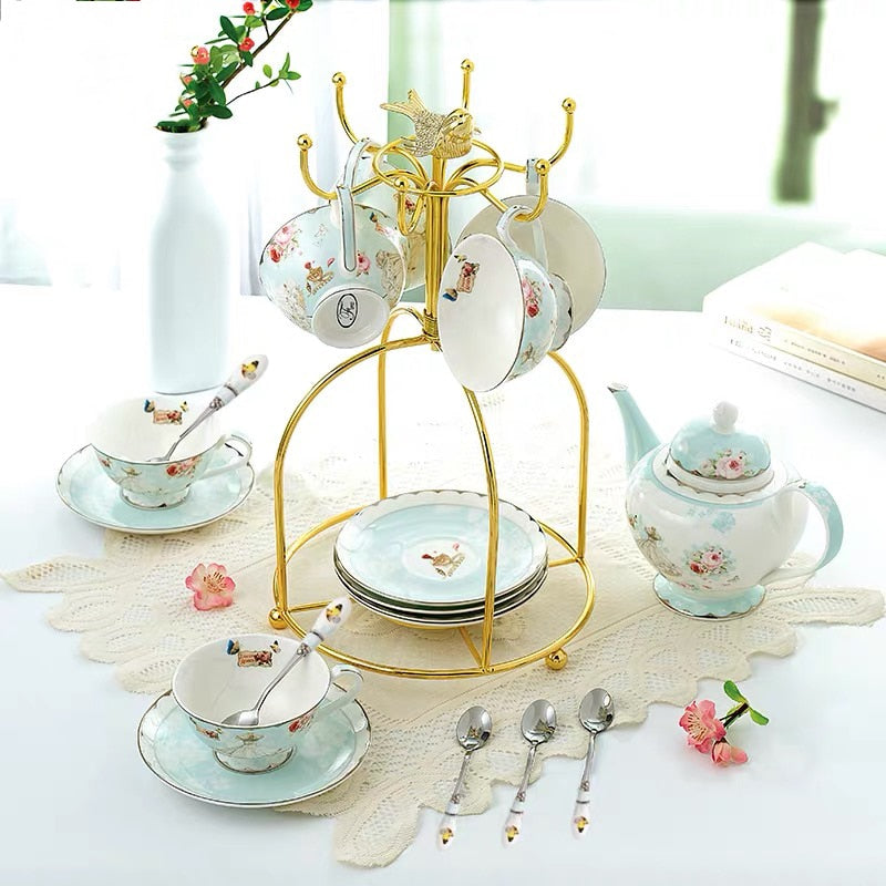British Porcelain Ceramic Tea Set - Survivor Wellness
