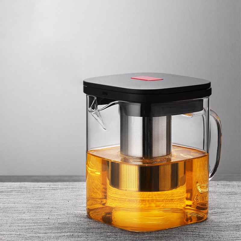 Transparent Glass Square Teapot - Survivor Wellness