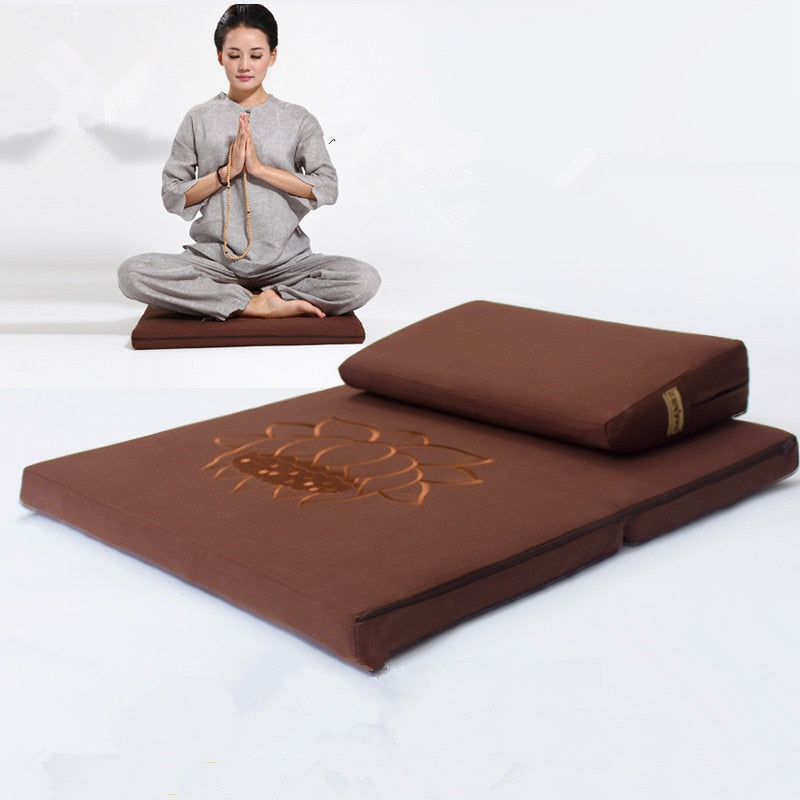 Deluxe Zafu & Zabuton 2 Piece Meditation Set - - Survivor Wellness