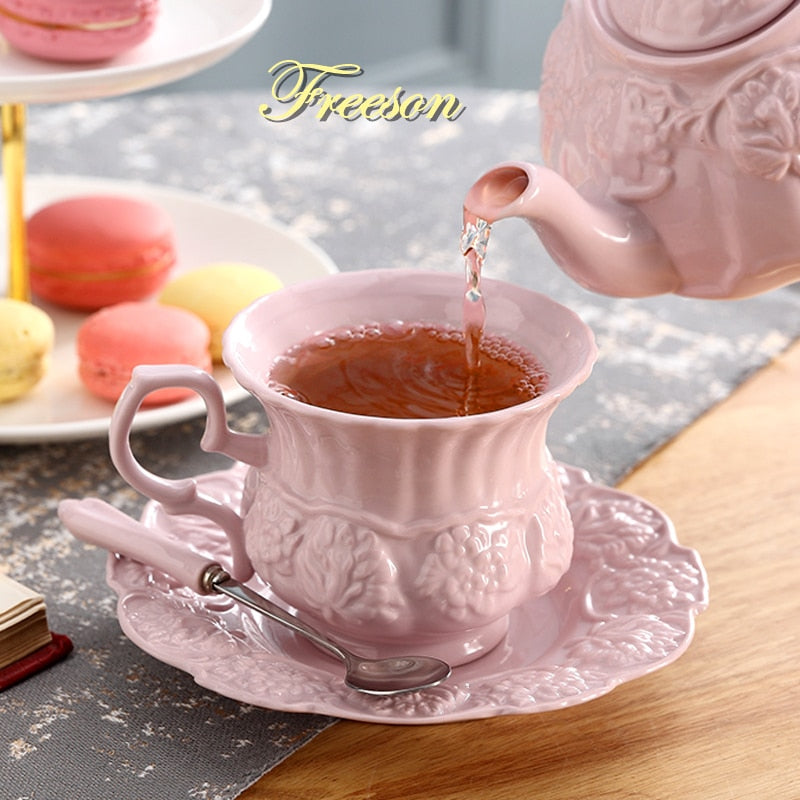 Pink Porcelain Tea Cup - Survivor Wellness