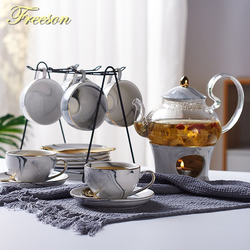 Nordic Ceramic Teapot Set - Survivor Wellness