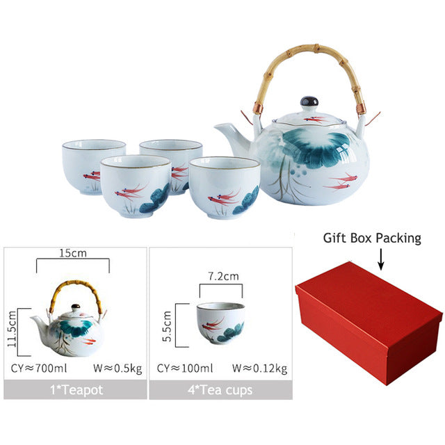 Goldfish Teapot Set - Survivor Wellness
