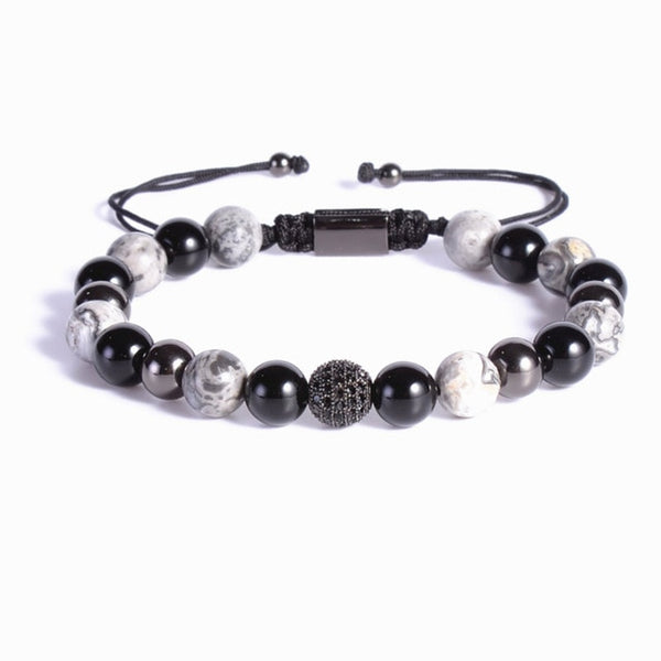 Zircon Ball Thunderstorm Threaded Bracelet