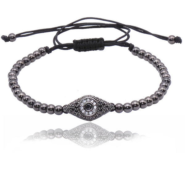 Evil Eye Deluxe Threaded Bracelet