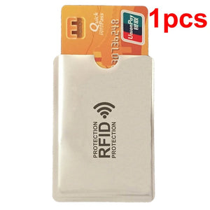 Anti Rfid Wallet Blocking Reader Lock Bank Card Holder Id Bank Card Case Protection Metal Credit NFC Holder Aluminium 6*9.3cm