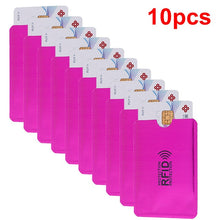 Load image into Gallery viewer, Anti Rfid Wallet Blocking Reader Lock Bank Card Holder Id Bank Card Case Protection Metal Credit NFC Holder Aluminium 6*9.3cm