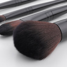 Load image into Gallery viewer, Black Professional makeup brush set