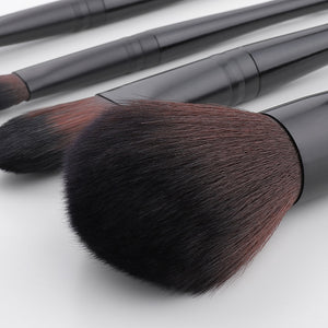 Black Professional makeup brush set
