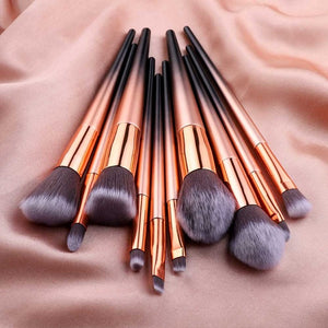 Professional Makeup Brush Set Colorful