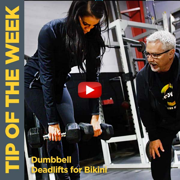 Coach Kim Oddo's Dumbbell Deadlifts for Bikini