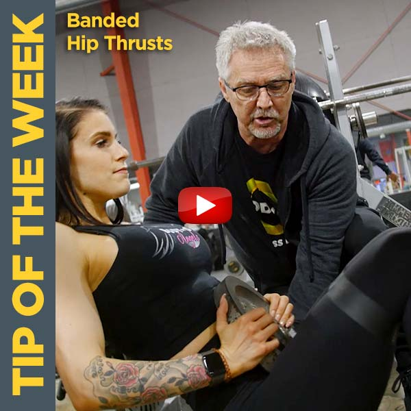Coach Kim Oddo Builds Glutes with Banded Hip Thrusts