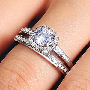 Bridal Wedding Ring Sets 2 Pcs for Women