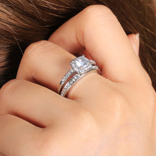 Load image into Gallery viewer, Bridal Wedding Ring Sets 2 Pcs for Women