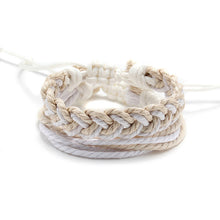 Load image into Gallery viewer, Beige Woven Rope Bracelet Handmade