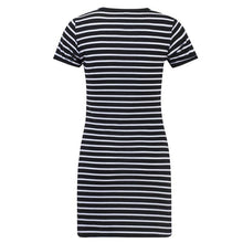 Load image into Gallery viewer, Black White Striped Sheath Dress