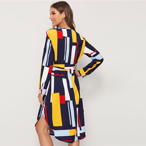 products/Casual_Dress_Geometric_V_Neck_Colorblock_with_Belt_2.jpg