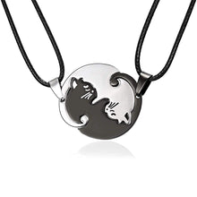 Load image into Gallery viewer, Cat Couple Lover Pendant Necklace