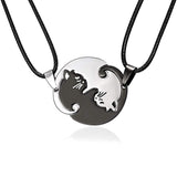 Cat Couple Lover Pendant Necklace