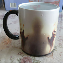 Load image into Gallery viewer, Zombie Ceramic Mug Color Changing Heat Sensitiv In The Walking Dead