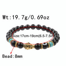 Load image into Gallery viewer, Evil Eye Beaded Bracelet Buddha Charm