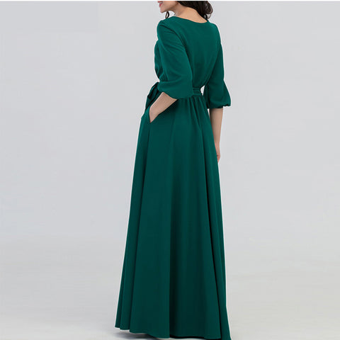 products/Green-Color-Long-Dress-with-_Sashes-Bohemian_6.jpg
