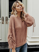 Load image into Gallery viewer, Knitted pullover jumper crewneck mohair women