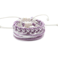 Load image into Gallery viewer, Purple Woven Rope Bracelet Handmade