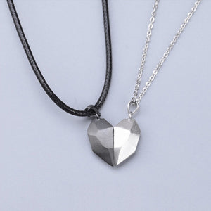 Magnetic Heart Pendant for Couple Lovers 2 Pieces